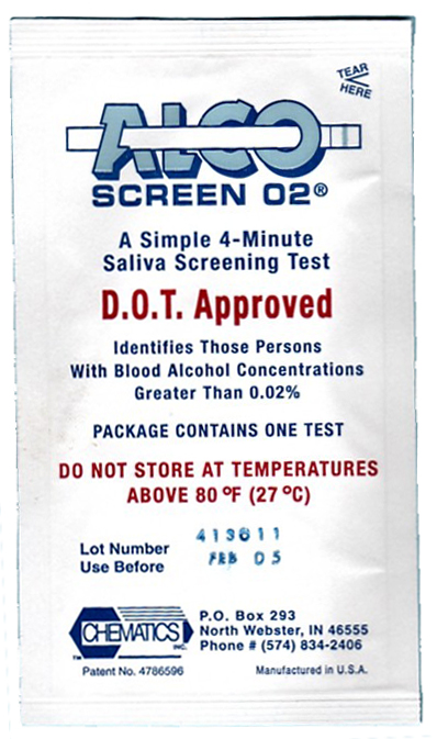 AlcoScreen - saliva alcohol test